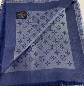 Louis Vuitton shine shawl bleu nuit