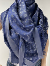 Load image into Gallery viewer, Louis Vuitton shine shawl bleu nuit