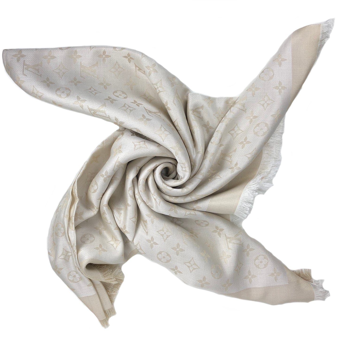 Louis Vuitton shine shawl white/gold