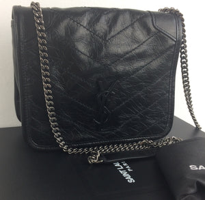 Saint Laurent niki vintage leather chain wallet