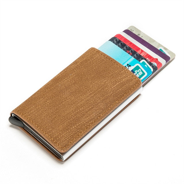 Leather ID and Credit Card Holder