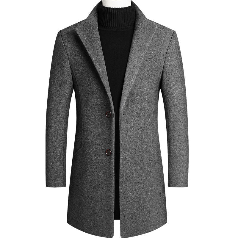 Two Button Wool Trench Coat