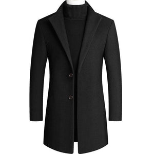 Open image in slideshow, Two Button Wool Trench Coat