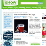 eHow - How to paint with Tea bags by Laura Maxwell