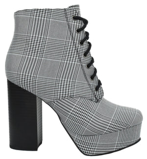 ERICA-S Black Plaid Delicious