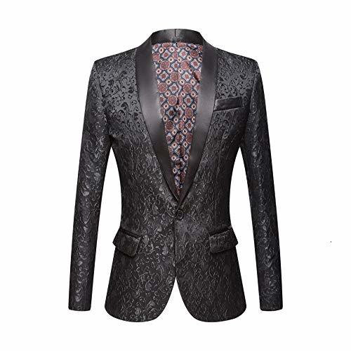 Pink Royal Blue Burgundy Floral Slim Fit Blazer