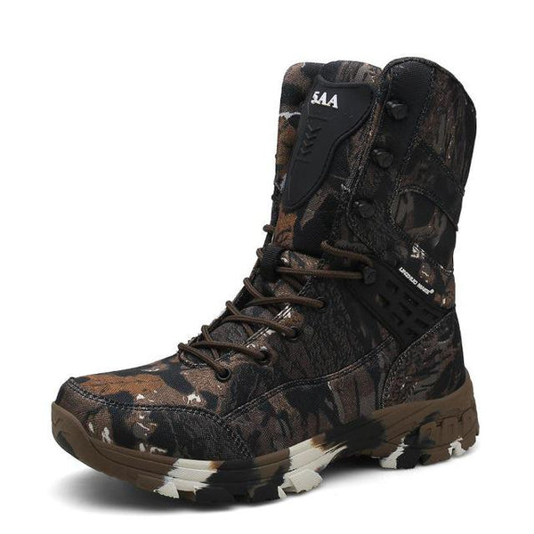 KM Waterproof Tactical Military Camouflage Men's Boots