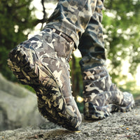 KM Military High Quality Waterproof Camouflage Tactical Combat Ankle Boots