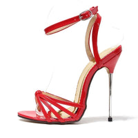 Women Summer Sexy Runway Metal Thin High Heels Party Shoes