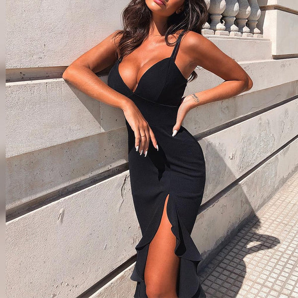 Sexy Black Weekend Evening Dress