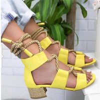 KM Hot New Arrival Women High Fashion Lace Up High Shoes