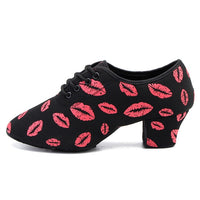 KM Woman Latin Red Lips Dance Shoes