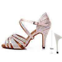 Ladies Latin Rhinestone Dance Shoes for Women