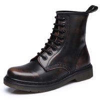 KM Genuine Leather Punk Casual Boots