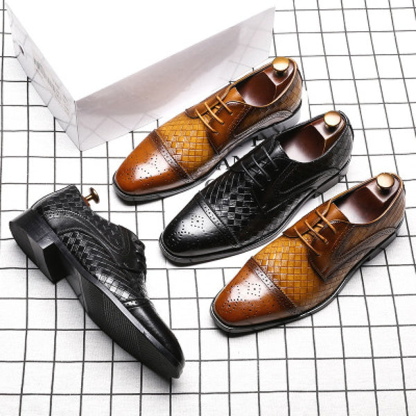 KM New Leather Dress Shoes Lace Up Luxury Elegant Shoes