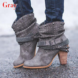 KM Hot New Arrival New Fashion Women High Heel Boots