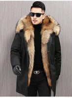 KM Men Winter Parka Thick Cotton Coat