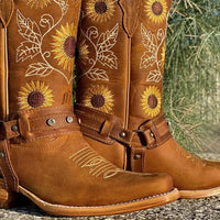 KM New Arrival Texas Embroidery Cowboy Boots For Women