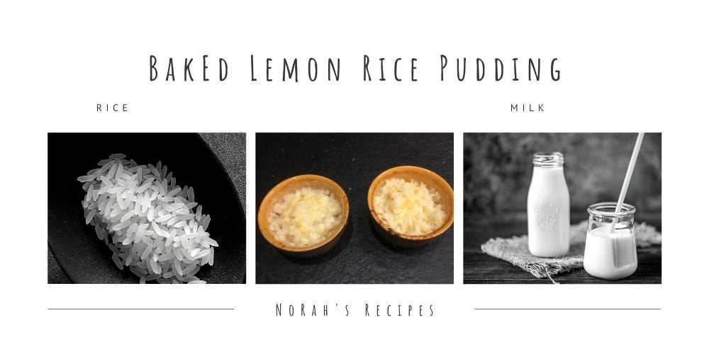 Baked Lemon Rice Pudding