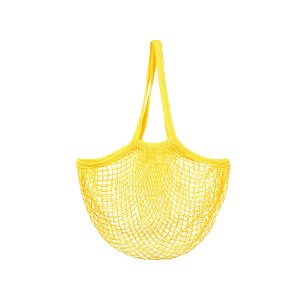 Yellow String Shopper Bag
