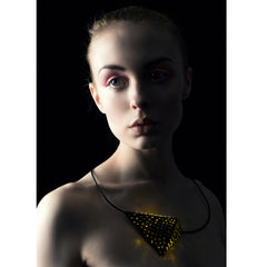 Dian Luo - Black triangular pyramid necklace