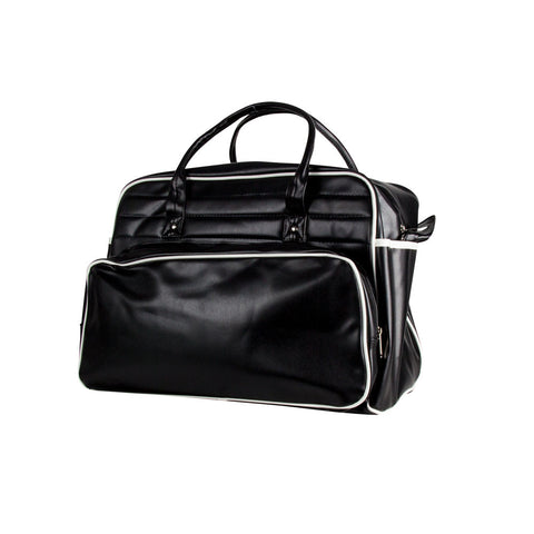Retro Travel Bag - Black No Logo