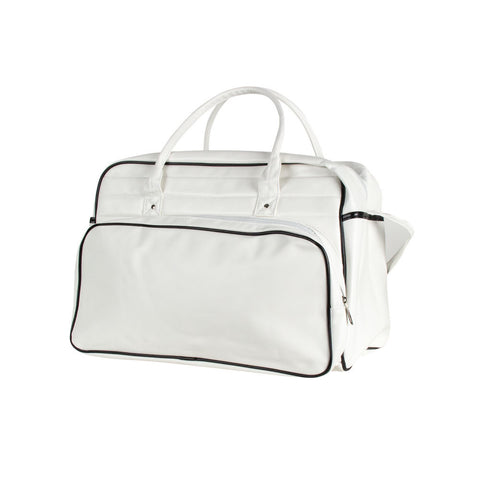 Retro Travel Bag - White No Logo