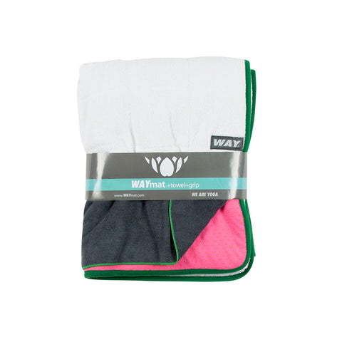 WAYmat Pink - Green Trim - Cotton