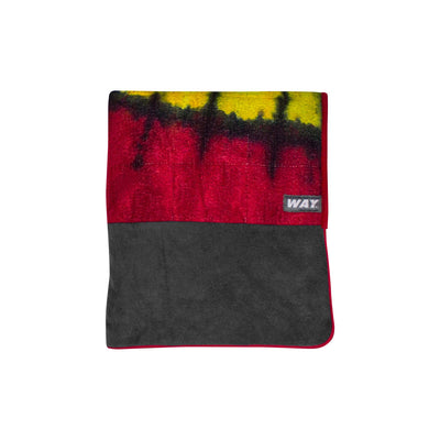 WAYmat-Hand Dyed RASTA w/Red Trim