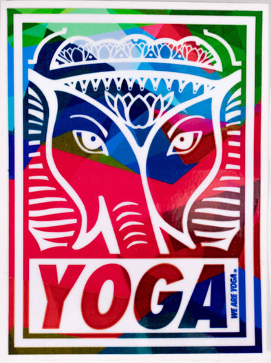 Obey Yoga Stamp Sticker - more colors available