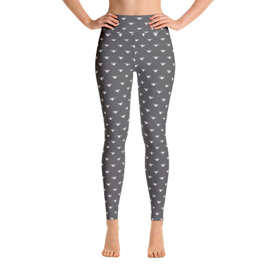 Classic Lotus Grey and White High Waist WAYleggings