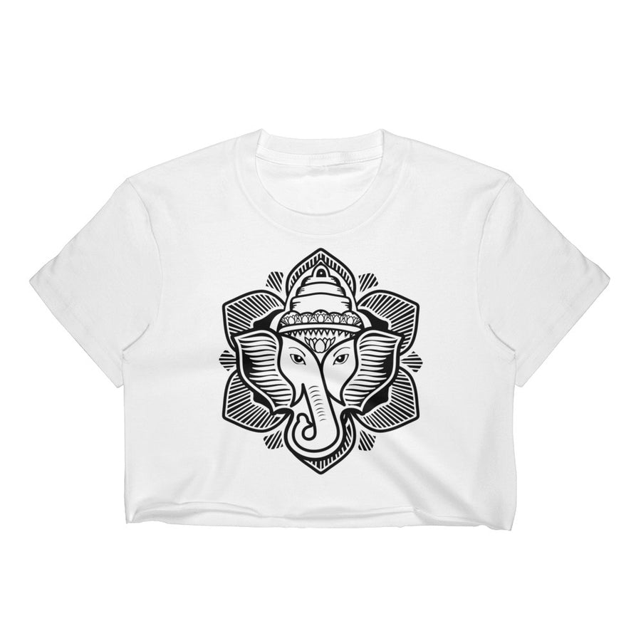 Elephant Lotus Crop Top