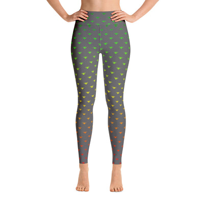 Rasta Lotus Fade-Grey-Yoga Leggings