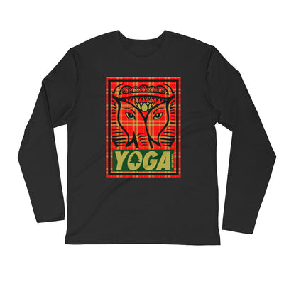 Plaid Yoga Stamp Long Sleeve