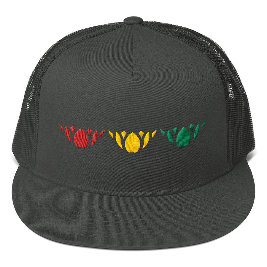 Red Gold & Green-Mesh Back Snapback