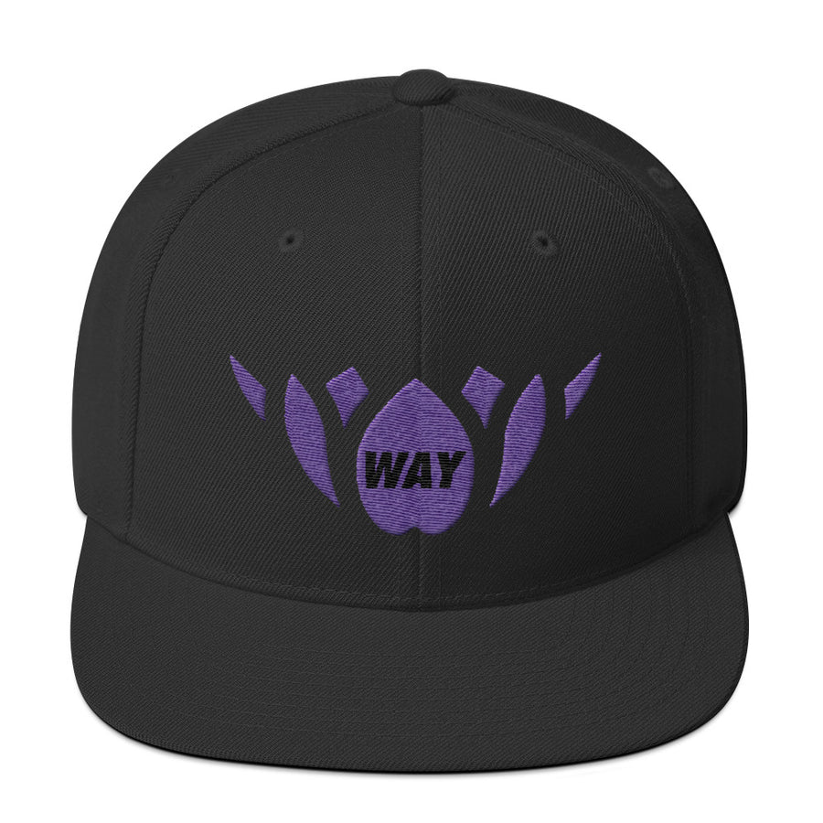 Black & Purple-Snapback Hat