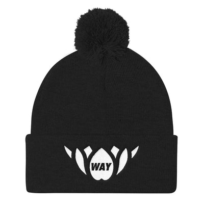 WAY LOTUS-Pom Pom Knit Cap