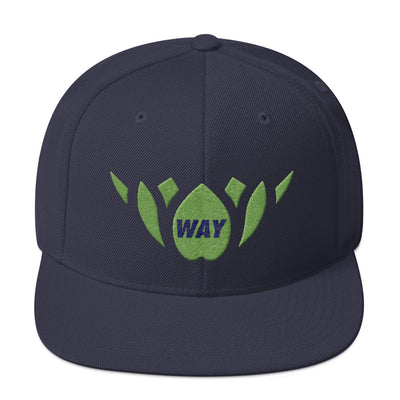 Navy & Green-Snapback Hat