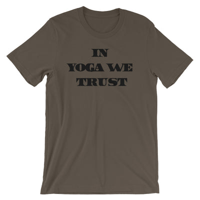 In YOGA We Trust Tee Shirt