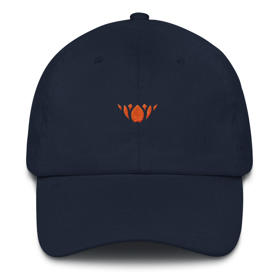 Navy & Orange Lotus-Club hat