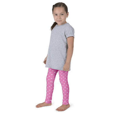 WAY Kids Leggings Pink and White Lotus