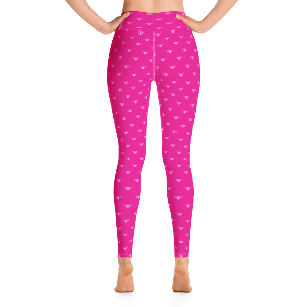57d072a1b25f6 Hot & Light Pink Lotus High Waist Leggings - WE ARE YOGA