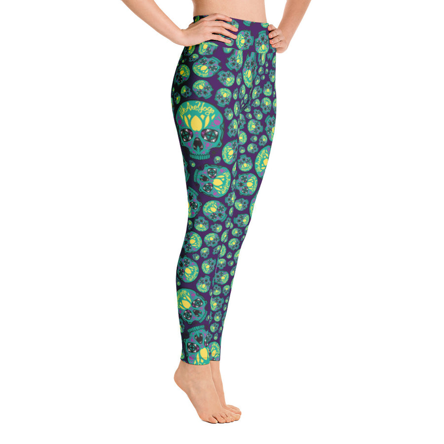 WAYskulls Green & Blue Leggings