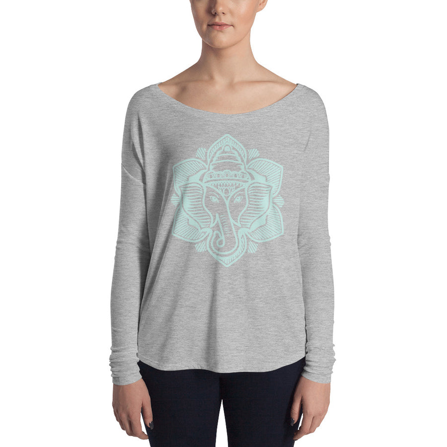 Seaglass Elephant Lotus Flowy Long Sleeve