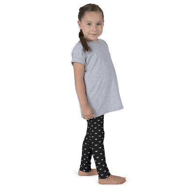 WAY Kids Leggings Black and White Lotus