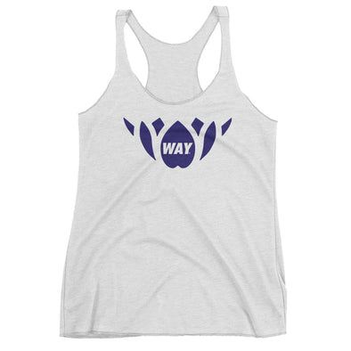 White + Navy Lotus Team Tank