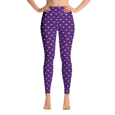 Purple + White Team Leggings