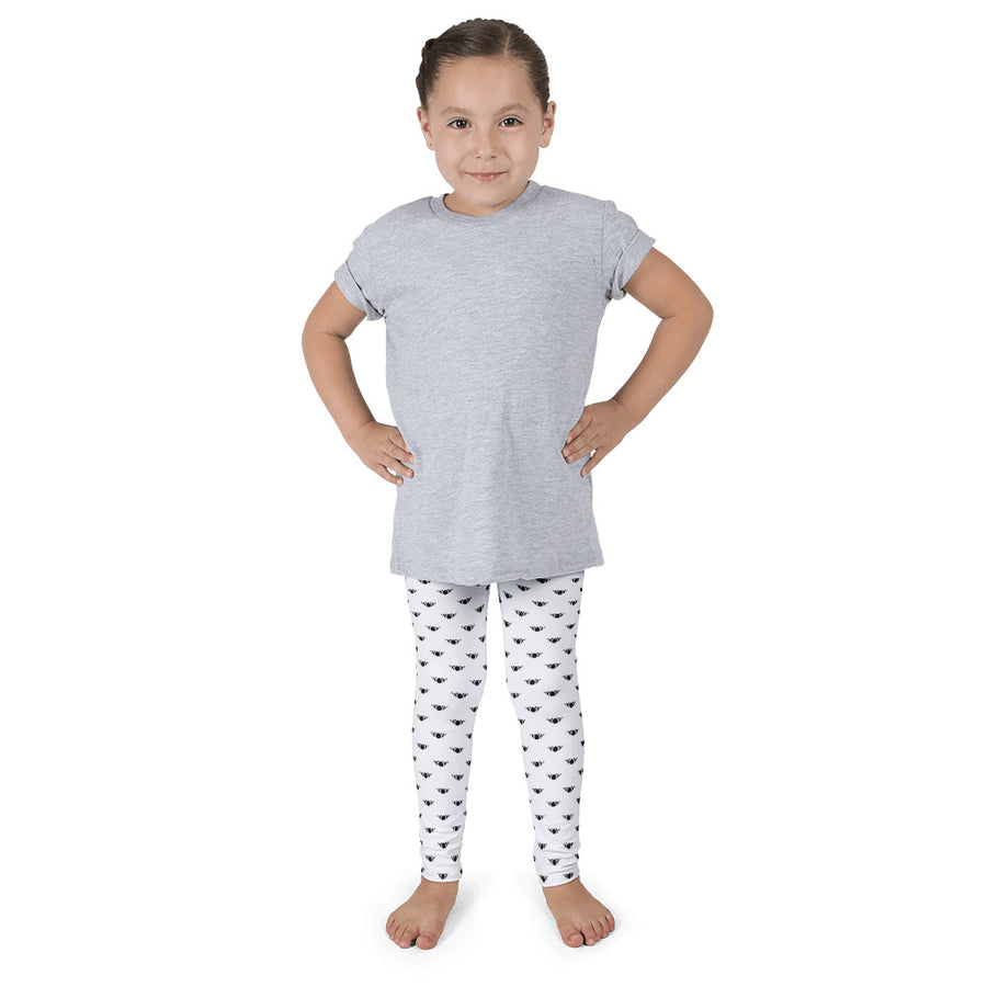 Classic Lotus White/Black Kid's Leggings