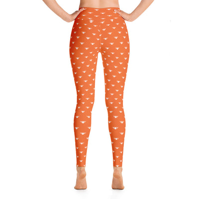 Orange + White Team Leggings