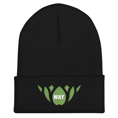 GREEN LOTUS-Cuffed Beanie